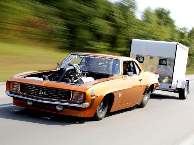 Camaro 1969 de Tom Bailey, considerado o carro de rua mais rápido dos Estados Unidos, capaz de cumprir o quarto de milha em 6,72 segundos [1]. Fonte: Hot Rod Network.