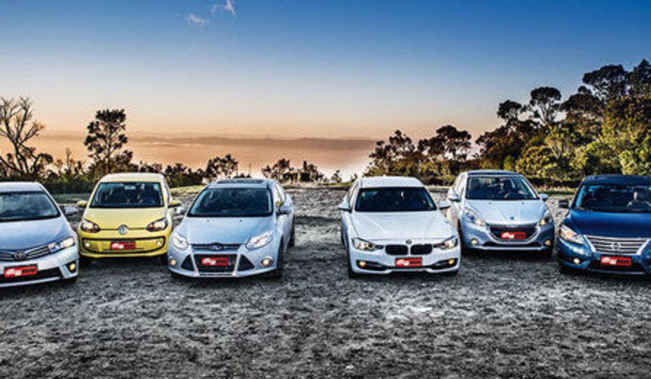 Carros testados. Fonte: Quatro Rodas [13]