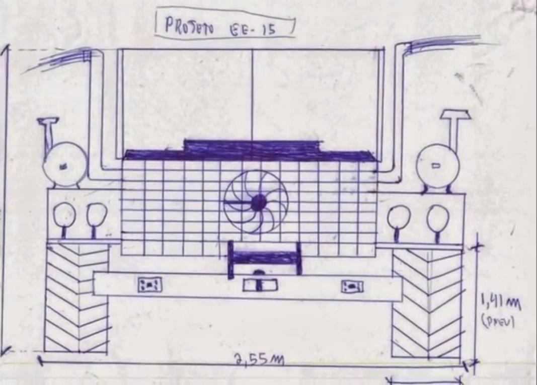 O primeiro desenho do Exterminador foi apenas uma brincadeira de André com sua filha pequena.