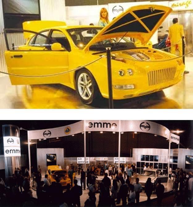 Apresentação do Emme Lotus no Salão do Automóvel de 1998.