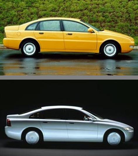 Apesar da afirmação de que era um projeto que vinha sendo desenvolvido a dez anos na Suíça, é muito curiosa a semelhança do Emme Lotus com o conceito Volvo ECC, que deu origem ao Volvo S80 também em 1998.