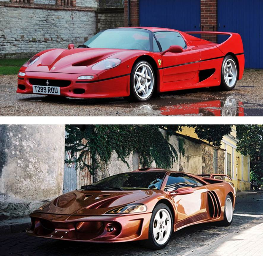 Ferrari F50 vs Lamborghini Coatl