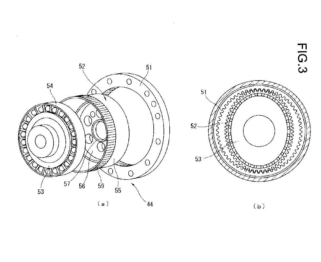 Componentes do sistema Harmonic Drive. Fonte: Patente EP 2884077 A1 [4].