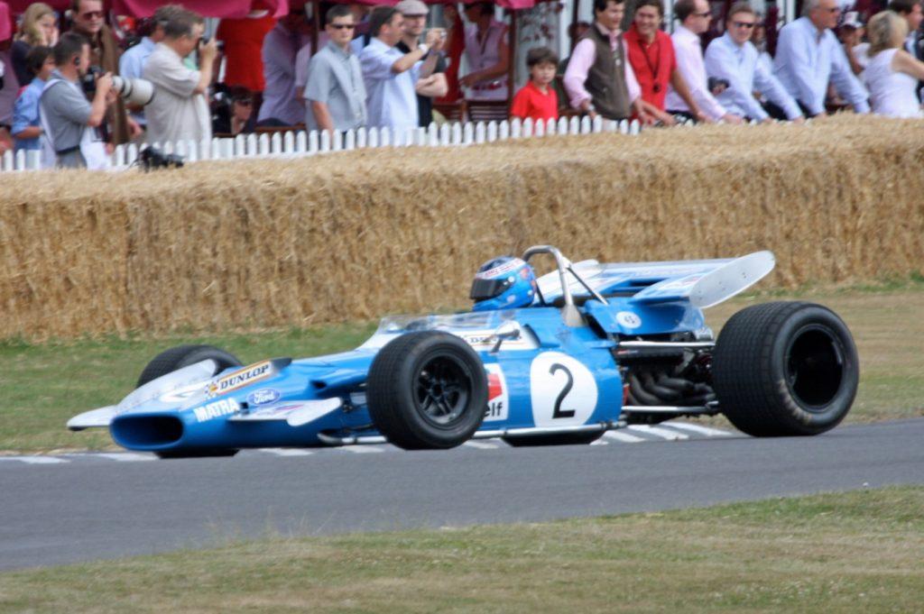 Matra MS80 Cosworth, como o utilizado por Sir Jackie Stewart para ser campeão de pilotos em 1969. Fonte: Wikipedia.