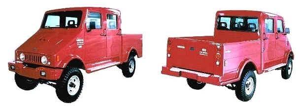 A opção de cabine dupla foi lançada durante o Agrishow em 2003. Fonte: Montadoras brasileiras [3].