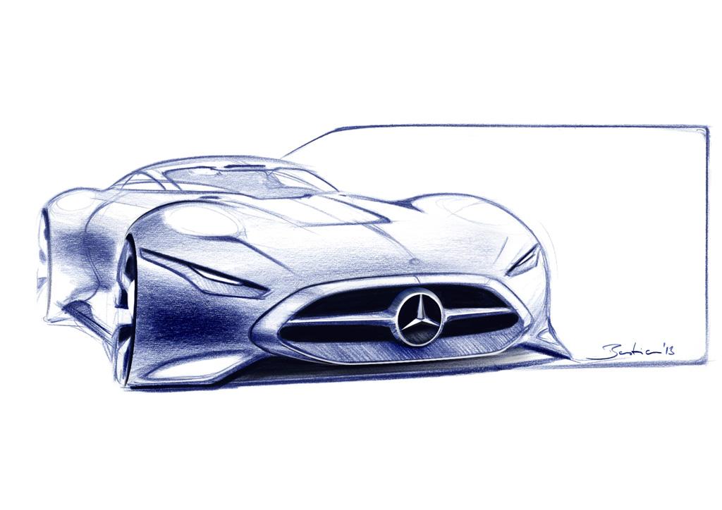 Sketch do Mercedes AMG Vision. Fonte: gran-turismo.com [1].