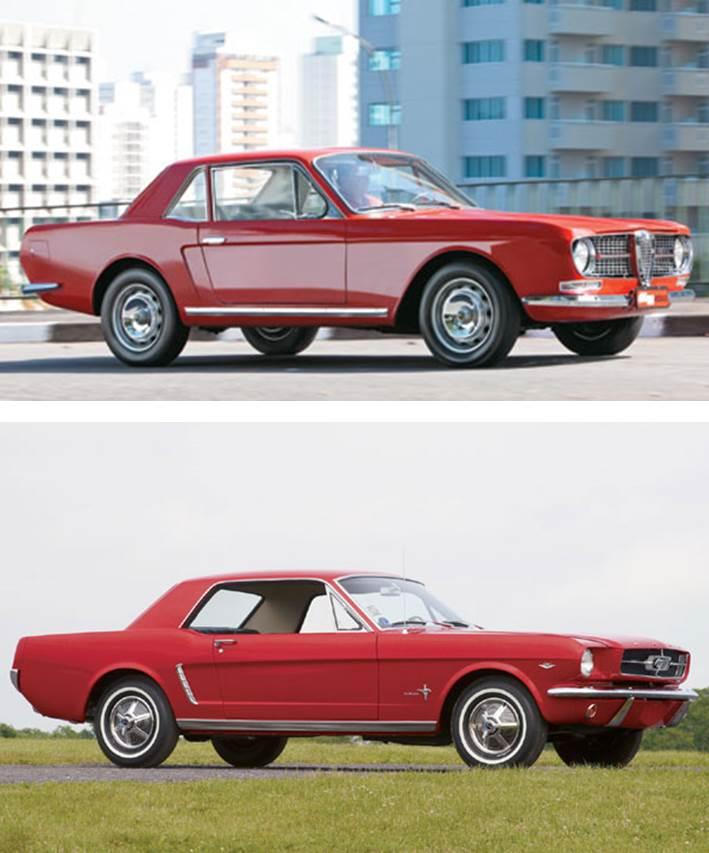 A versão final do Onça lembrava muito o recém-lançado Ford Mustang. Fontes: