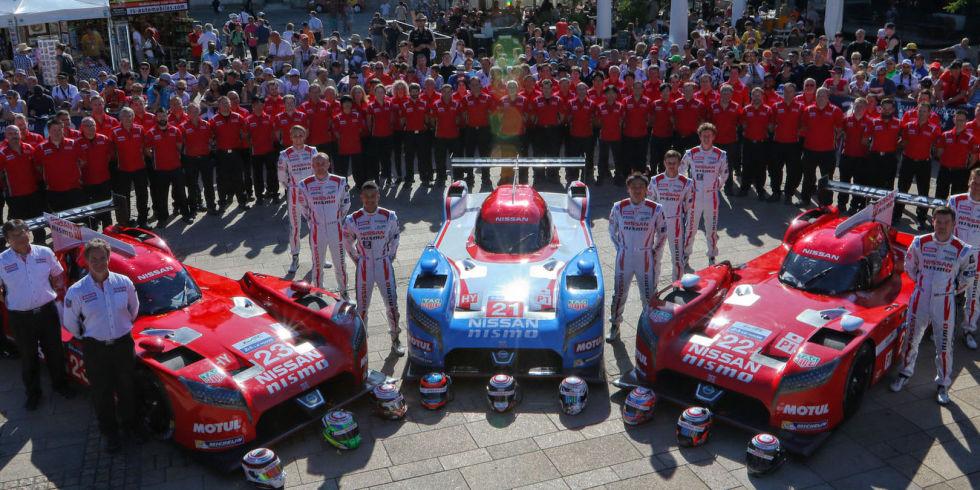Time da Nissan em Le Mans. Fonte: Road&Track [6].