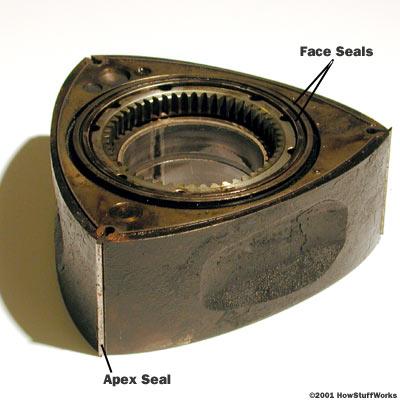 Diferente dos motores rotativos Wankel, Fonte: HowStuffWorks Auto [2].