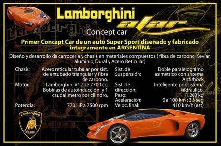 Brochura de divulgação do Lamborghini Alar. Fonte: Divulgação.