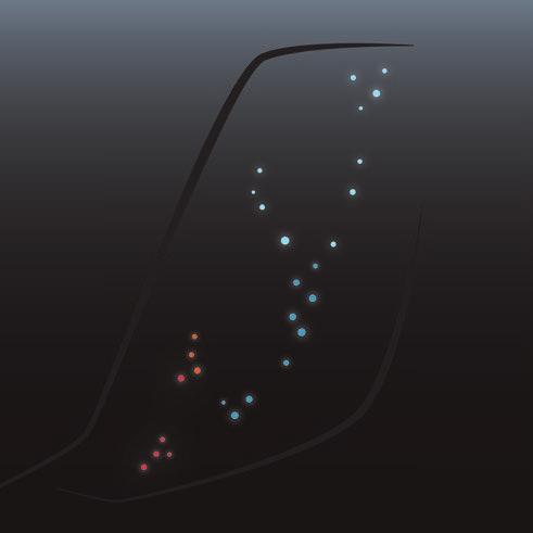 Detalhe do layout dos LEDs do Regera. Fonte: Divulgação [1].